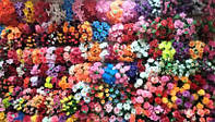 Искусственные цветы, вазоны, букеты,венки