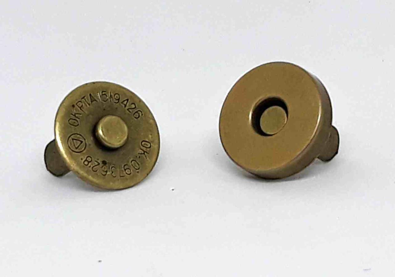 Кнопка магнитная чистая 15 мм (200 шт) антик