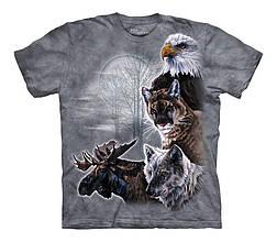 3D футболка для мальчика The Mountain р.M 7-10 лет футболки детские с 3д рисунком (Северные звери)