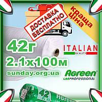 Агроволокно 42г\м.кв 2,1*100 Белое AGREEN 4сезона. Бесплатная доставка, фото 1