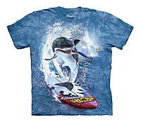 3D футболка для мальчика The Mountain р.XL 14 лет футболки детские 3д (Серфинг Акулы)