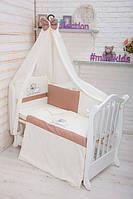 """Комплект дитячої постелі """"Teddy"""", 7 ел. (ТМ MIMIKIDS)"""
