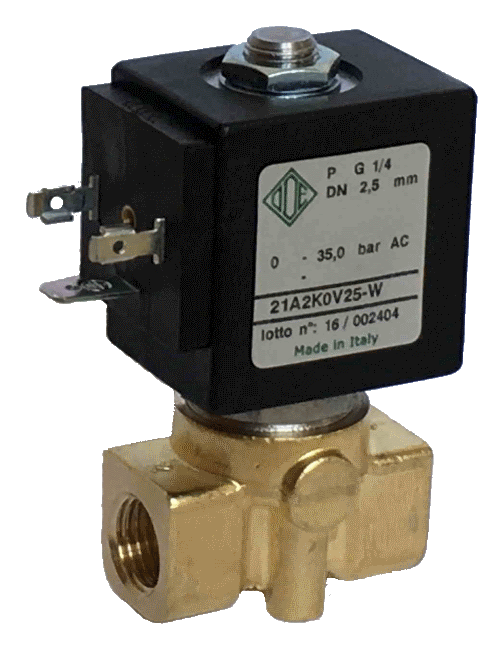 Электромагнитный клапан для воды 21A2K0V25-W, G1/4