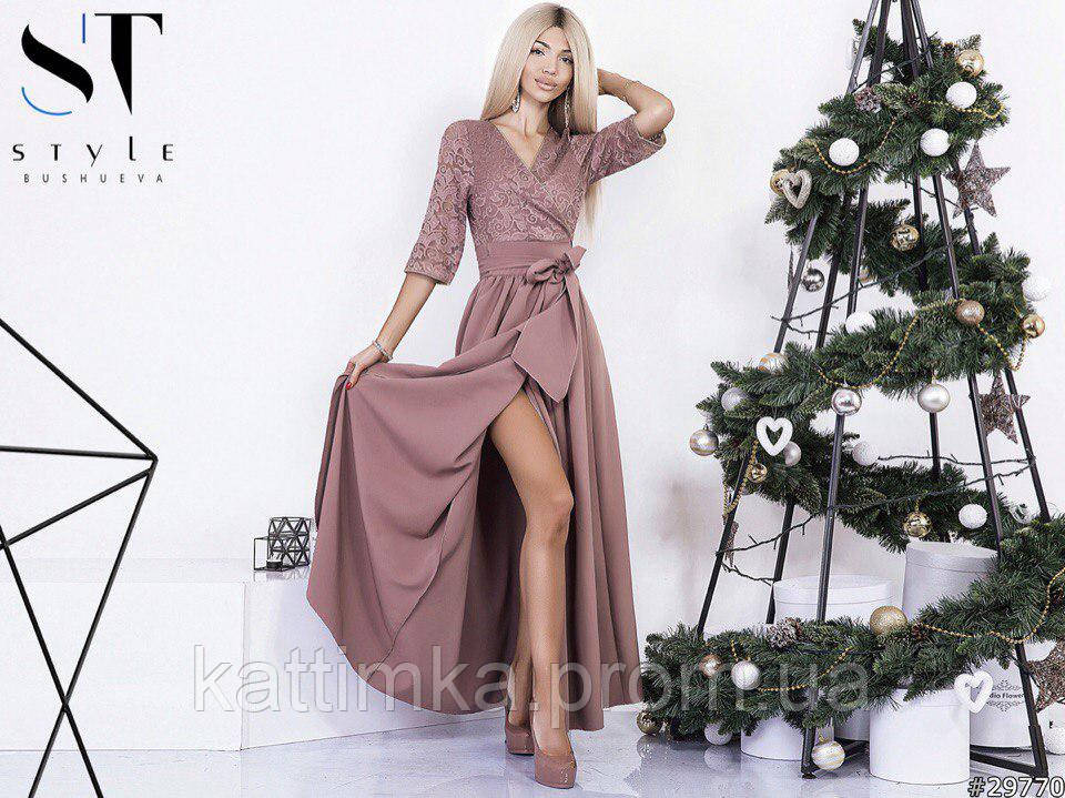 3bd1e2742f6 Красивое гипюровое платье длинное (БАТАЛ) - Интернет-магазин