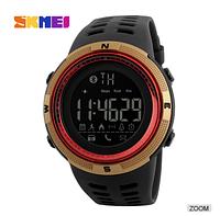 Смарт часы Skmei ( bluetooth) watch 1250 (red-gold) New 2018 Гарантия!  + ВІДЕО