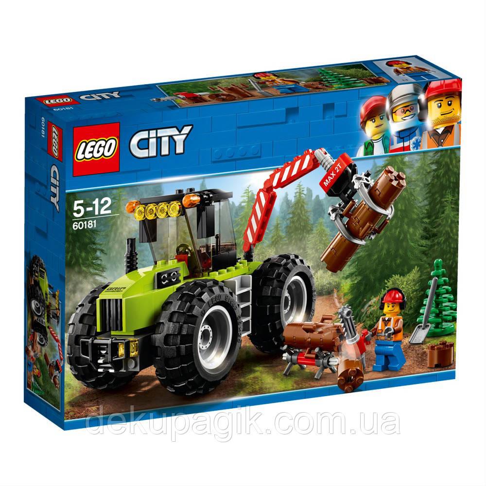 Lego City Лесоповальний трактор 60181