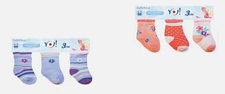Трикотажные носки для малышей. (3 шт. в упаковке) Польша ДЛЯ ДЕВОЧКИ