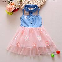 Детские платья. Джинсовый сарафан для девочки