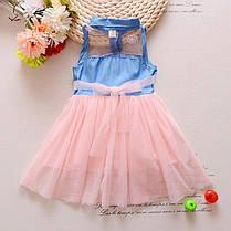 Летнее платье для девочки джинсовый верх и фатиновая юбка, фото 2