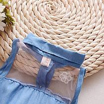 Летнее платье для девочки джинсовый верх и фатиновая юбка, фото 3