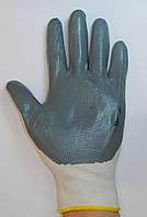 Перчатки рабочие Стрейч серый №10