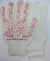 Перчатки рабочие Белые с цветами
