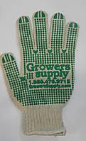 Перчатки рабочие польские двухсторонние зеленые