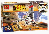 """Конструктор Bela Space Wars 10372 """"Космический истребитель"""" 246 деталей (аналог Lego Star Wars), фото 1"""
