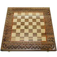 Резная шахматная доска. 50 х 50 см. Ручная работа