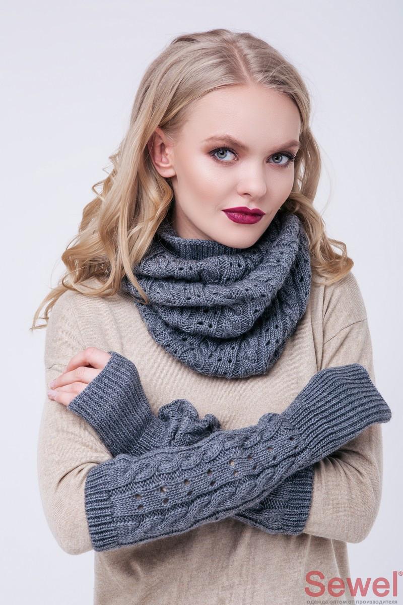 Снуд шарф женский