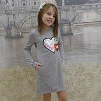 Платье ангора  (серое), фото 1