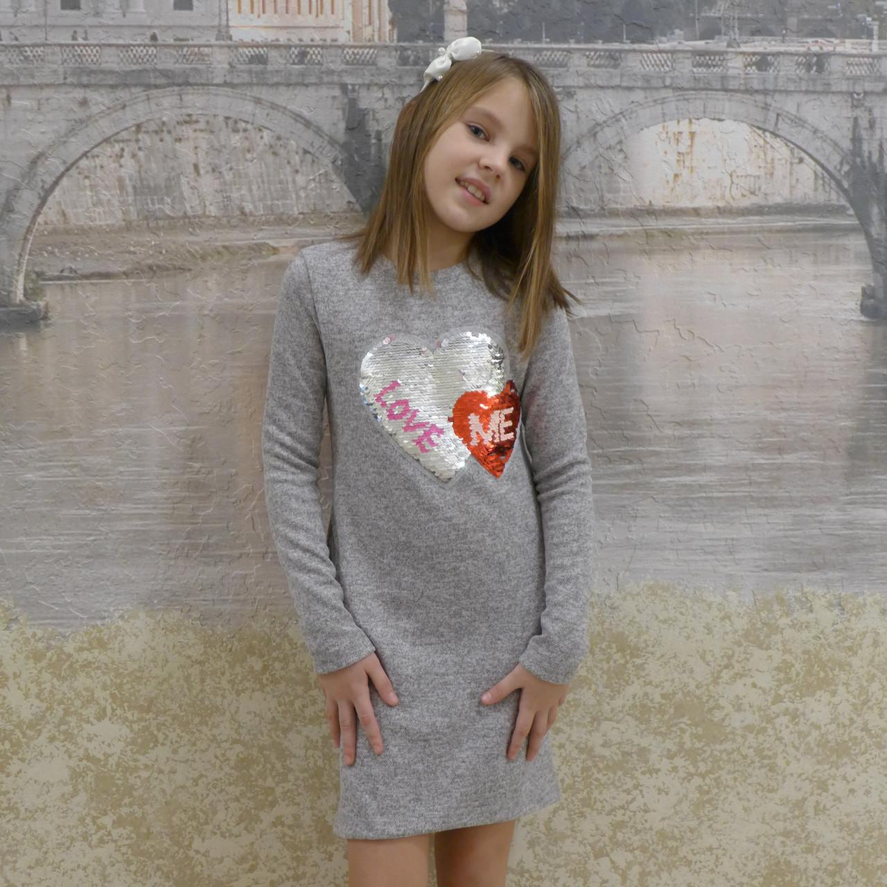 Платье ангора  (серое)
