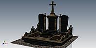 Гранитный памятник комплексный (габбро, васильевка)