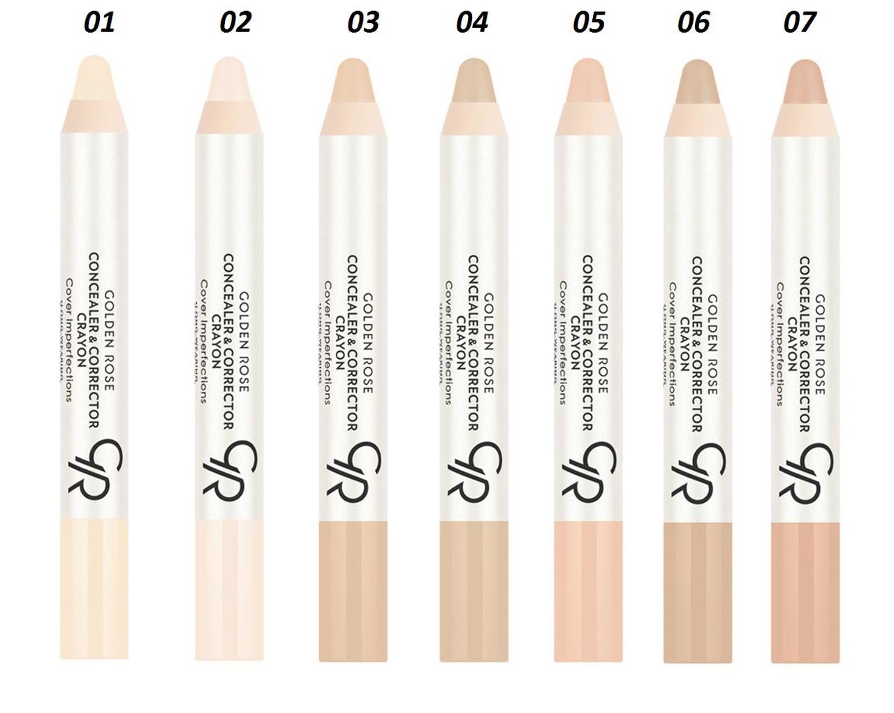 Корректор-карандаш для лица Golden Rose Concealer & Corrector Crayon (консилер + корректор)