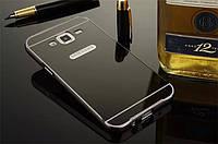 Чехол для Samsung Galaxy J5 2015 sm-j500 / j500h - зеркальный ГРАФИТОВЫЙ
