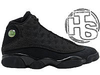 "Мужские кроссовки Air Jordan 13 XIII Retro BG (GS) ""Black Cat"" Black/Black-Anthracite 414571-011"