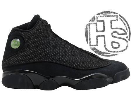 "Мужские кроссовки Air Jordan 13 XIII Retro BG (GS) ""Black Cat"" Black/Black-Anthracite 414571-011, фото 2"
