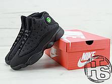 "Мужские кроссовки Air Jordan 13 XIII Retro BG (GS) ""Black Cat"" Black/Black-Anthracite 414571-011, фото 3"