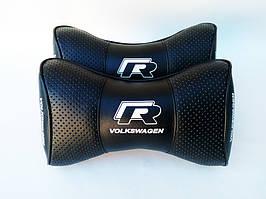 Автомобильные подушки на подголовники Volkswagen R чёрные
