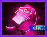 Cветящиеся Led наушники Pink!Опт