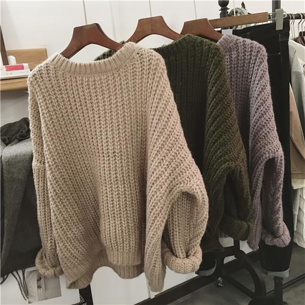 Объемные свитера крупной вязки цвета в наличии