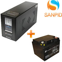 Источник бесперебойного питания Luxeon UPS-500ZX + Аккумулятор Luxeon LX12-40MG 12В 40Ач