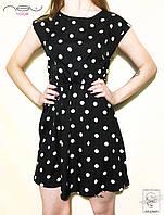 Женское платье летнее черное в горошек New Look р. XS 40