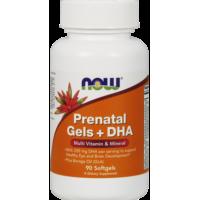 NOW Витамины для беременных и кормящих Prenatal Gels + DHA 90 softgel