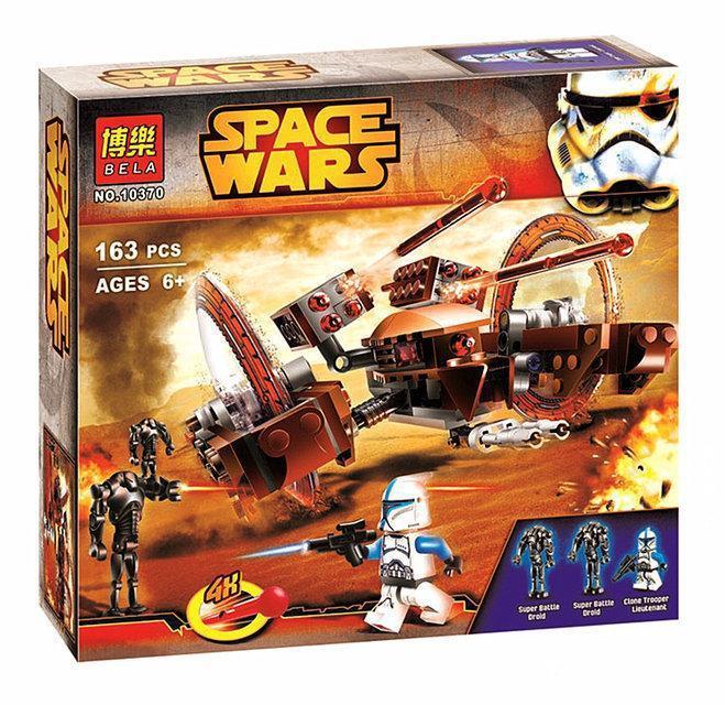 "Конструктор Bela Space Wars 10370 ""Дроид поддержки"" 163 детали (аналог Lego Star Wars)"