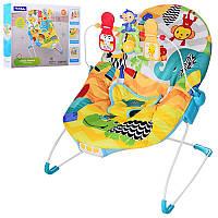 Детский музыкальный шезлонг-качалка с виброрежимом 88964 Fitch Baby