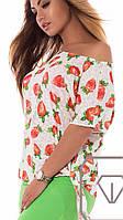 Красивая легкая летняя блузка для стильных женщин, батал большие размеры