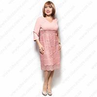 Женское платье большого размера с гипюром