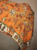 Брендовый шелковый платок