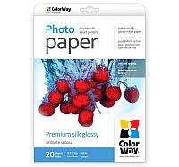 Фотобумага ColorWay, шелковисто-глянцевая, Letter (LT), 260 г/м2, 20 л (PSI260020LT)