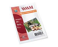 Фотобумага WWM, глянцевая, A6 (10х15), 225 г/м2, 5 л (G225.F5)
