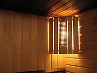 Ограждение светильника для сауны, угловое