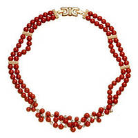 Ожерелье из натурального камня коралла