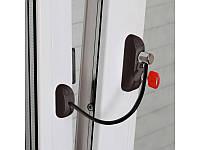 Замок-блокиратор открывания створки с ключом и кабелем BSL cable prime, коричневый