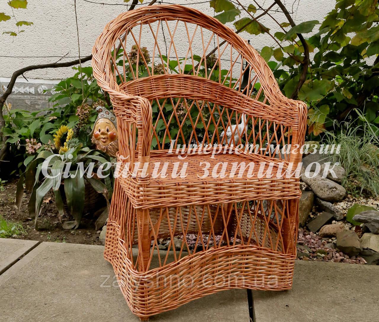 Кресло плетеное на балкон
