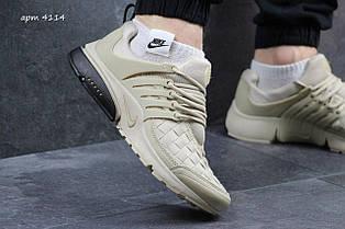 Кросівки Nike air presto TP QS текстиль,бежеві 43,44 р