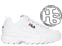 Женские кроссовки Fila Disruptor II 2 Leather White/Navy Blue/Red FW01655-111 37