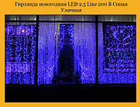 Гирлянда новогодняя Xmas LED 2.5 Line 200 B Уличная Синяя (ПРОДАЕТСЯ ТОЛЬКО ЯЩИКОМ!!!)(20)!Опт