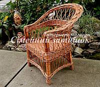 Детское кресло из лозы