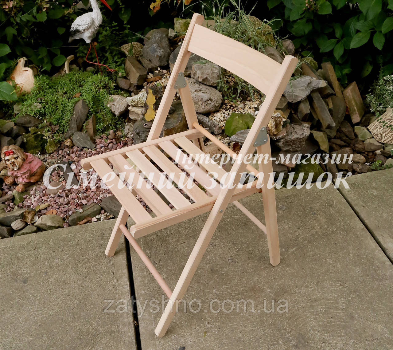 Складное кресло из бука